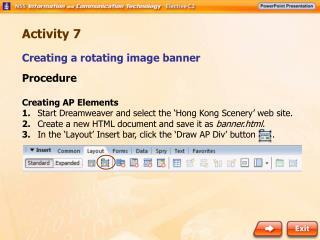 Creating a rotating image banner