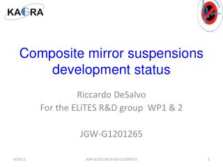Composite mirror suspensions development status