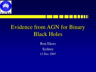 Evidence from AGN for Binary Black Holes