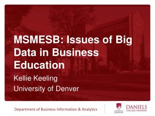 MSMESB: Issues of Big Data in Business Education