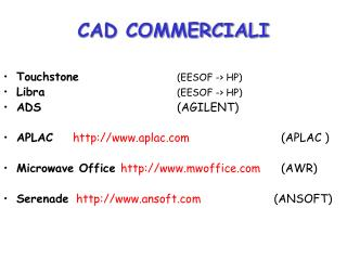 CAD COMMERCIALI