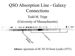 QSO Absorption Line - Galaxy Connections