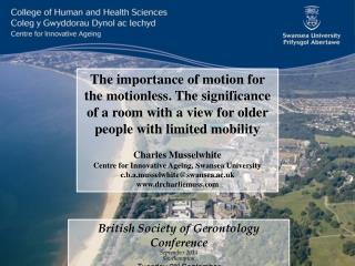 British Society of Gerontology  Conference September 2014 Southampton Tuesday 2 nd  September