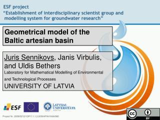 Geometrical model of the Baltic artesian basin