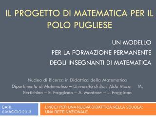 Il Progetto di Matematica per il polo pugliese