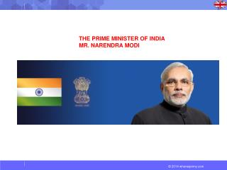 THE PRIME MINISTER OF INDIA  MR. NARENDRA MODI