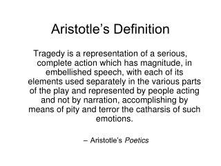 Aristotle's Definition