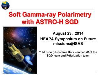 Soft Gamma-ray  Polarimetry  with ASTRO-H SGD