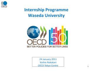 Internship Programme  Waseda University