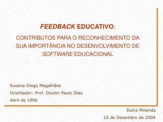FEEDBACK  EDUCATIVO :