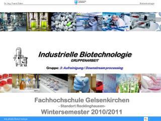 Fachhochschule Gelsenkirchen - Standort Recklinghausen- Wintersemester 2010/2011