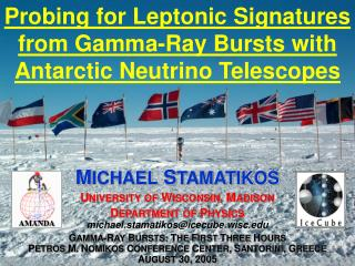 Probing for Leptonic Signatures from Gamma-Ray Bursts with Antarctic Neutrino Telescopes