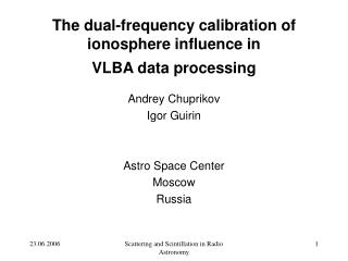 The dual-frequency calibration of ionosphere influence in  VLBA data processing