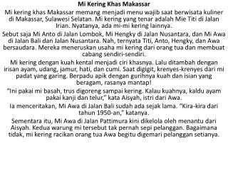 Mi Kering Khas Makassar