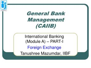 General Bank Management CAIIB