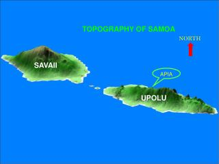 TOPOGRAPHY OF SAMOA