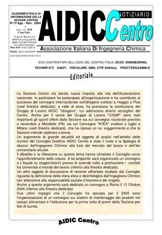 N°13 Ago - Nov.  2004 •
