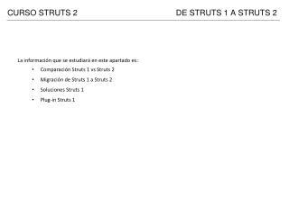 DE STRUTS 1 A STRUTS 2