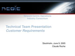 Technical Team Presentation Customer Requirements