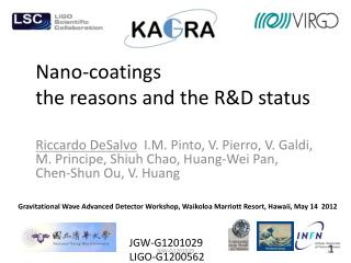 Nano-coatings the reasons and the R&D  status