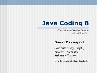 Java Coding 8