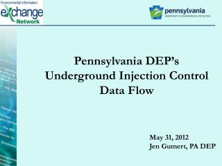 Pennsylvania DEP's Underground Injection Control Data Flow