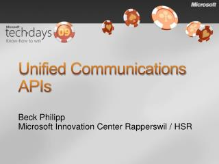 Unified Communications APIs