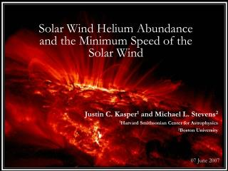 Solar Wind Helium Abundance and the Minimum Speed of the Solar Wind
