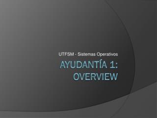 Ayudantía 1: Overview