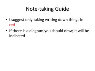 Note-taking Guide