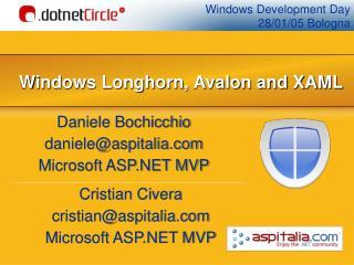 Windows Longhorn, Avalon and XAML