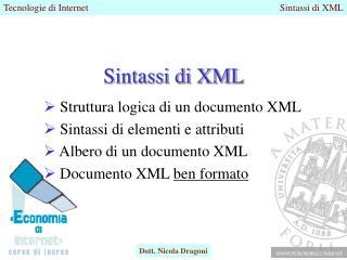 Sintassi di XML