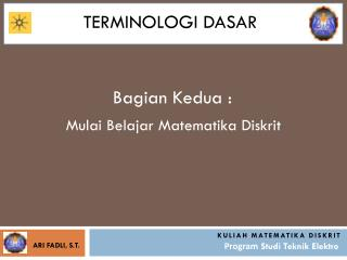 Terminologi dasar
