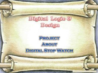 Project About Digital Stop Watch