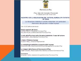 Paolo Picchi Servizio Sistema Informativo, Studi e Statistica
