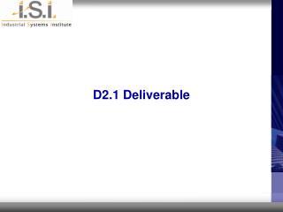 D2.1 Deliverable