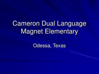 Cameron Dual Language Magnet Elementary