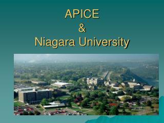 APICE  &  Niagara University