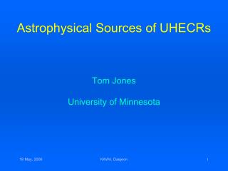 Astrophysical Sources of UHECRs