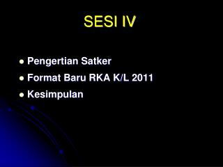 SESI IV