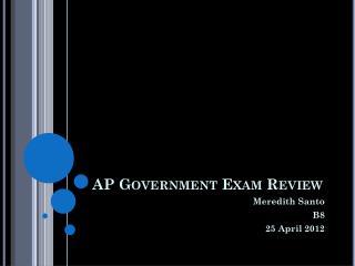 AP Government Exam Review