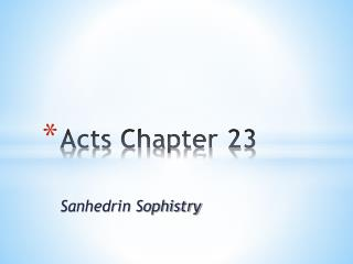 Acts Chapter 23