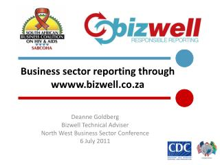 Business sector reporting through wbizwell.co.za