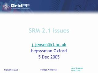 SRM 2.1 issues
