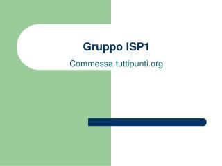 Gruppo ISP1