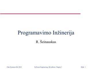 Programavimo  In�inerija