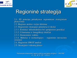 Regioninė strategija