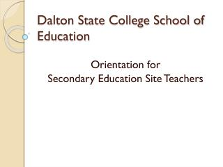 Dalton State College School of Education