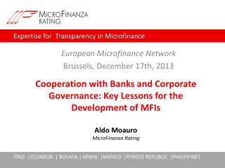 European  Microfinance Network Brussels , December 17th, 2013
