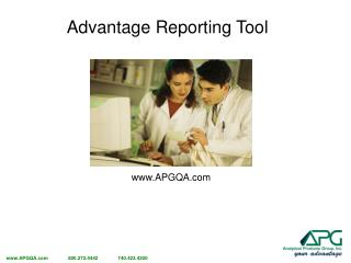 Advantage Reporting Tool